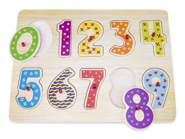 NW0317 Numbers Wooden Puzzle-1