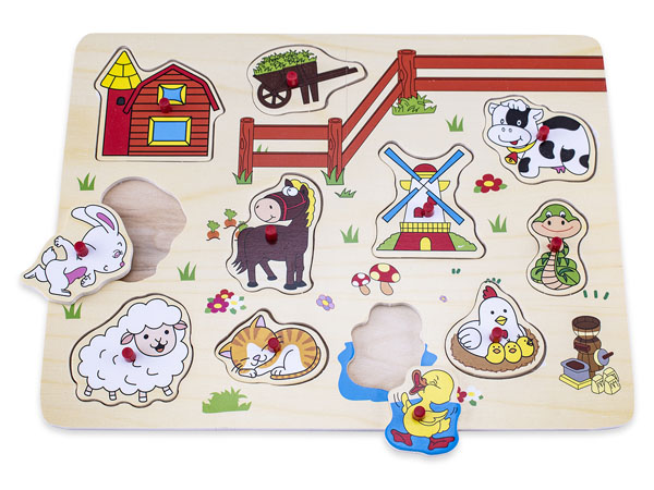 NW0348 Farm Wooden Puzzle-1